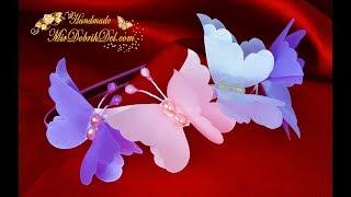 ОБОДОК с бабочками 🌷DIY Kanzashi Headband