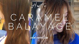 Caramel Balayage - Color Correction || Hair Tutorial