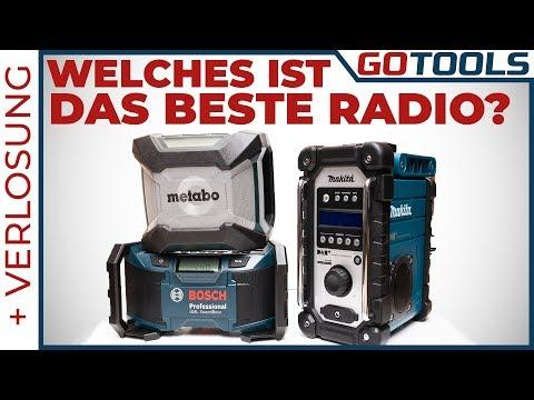🔥 Sind Baustellenradios unter 100 Euro brauchbar ? Bosch | Makita | Metabo 🔔 inkl. Verlosung! 🔔