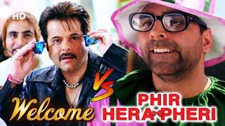 Best of Hindi Comedy Scene   Movie Welcome V/S Phir Hera Pheri   Paresh Rawal   Akshay Kumar