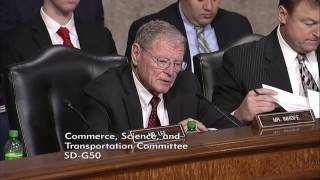 Inhofe Questions Elaine Chao, Secretary of Transportation Nominee, In Commerce Committee Hearing