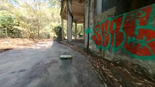 Cinewhoop crash ~ abandoned factory (Cinematic FPV video by GoPro Hero 6) 2.7K