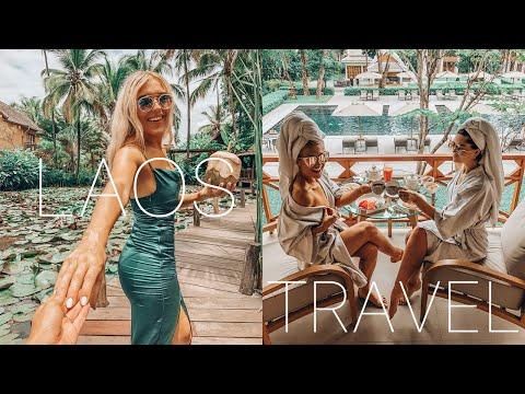 LAOS TRAVEL VLOG - Luang Prabang, Mekong River Cruise, Kuang Si Falls Waterfall - ASIA TRAVELS