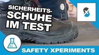 Sicherheitsschuhe im Test   Safety Xperiments