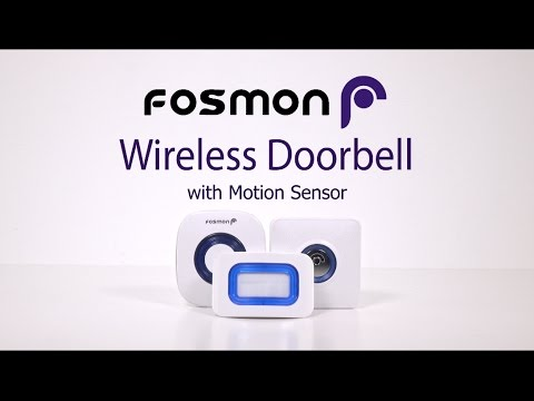 How to set up Fosmon WaveLink Wireless Doorbell with Motion Sensor