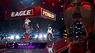"""Penguin sings """"Worth It"""" by Fifth Harmony   THE MASKED SINGER   SEASON 2"""