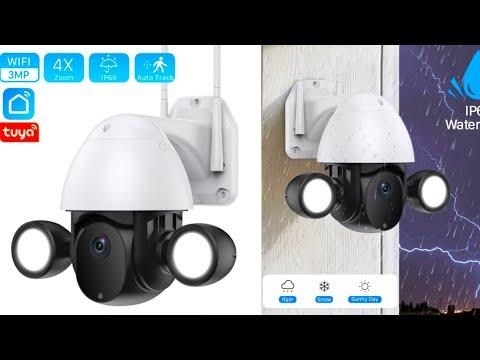 PTZ WiFi камера Tuya 3MP с двумя прожекторами  PTZ WiFi Camera with Dual Spotlights