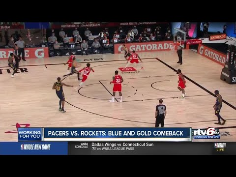 Pacers vs. Rockets: Blue and gold comeback