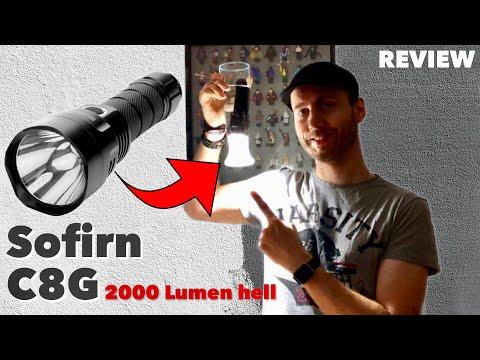 Sofirn C8G - 2000 Lumen Helligkeit und das sogar unter Wasser - Test REVIEW