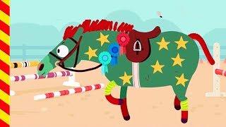 Наряжаем лошадку на праздник. Развивающий Мультик про лошадь. Мультик про Пони Животные для детей