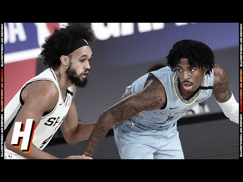 San Antonio Spurs vs Memphis Grizzlies – Full Game Highlights | August 2, 2020 | 2019-20 Season