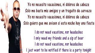 Wisin - Vacaciones Lyrics English and Spanish - Translation  Meaning - Letras en ingles