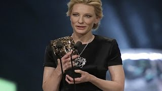 Cate Blanchett Continued Her Tribute To Philip Seymour Hoffman at BAFTAs 2014