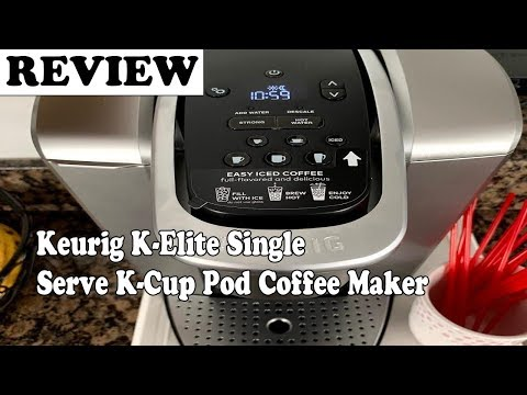 , Keurig K-Elite Single Serve K-Cup Pod Coffee Maker, with Strong Temperature Control, Iced Coffee Capability, 12oz Brew Size, Programmable, Brushed Silver