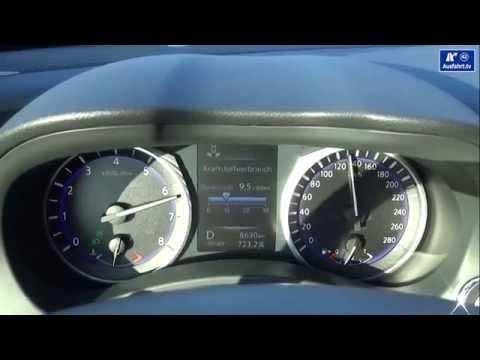 2014 Infiniti Q50 2.0t  - Beschleunigung - 0-100 km/h kph acceleration Tachovideo