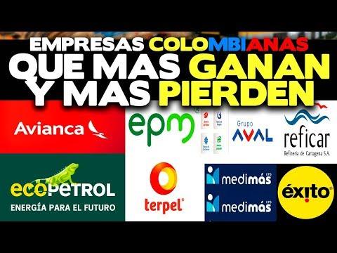 Empresas Colombianas que mas Ganan y que mas Pierden
