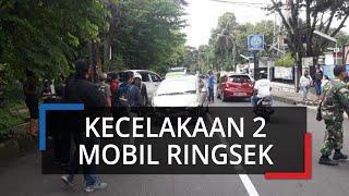 Terjadi Kecelakaan di Dekat Kampus BSI Kota Bogor, Dua Mobil Ringsek parah