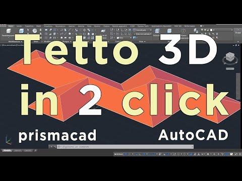 Tetto a padiglione 3D in 2 click con AutoCAD