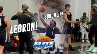 LeBron James Jr Plays In CRUISE CONTROL, Advances To The Championship Game