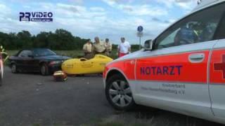 preview picture of video '12.08.2010 - Walldorf - Liegendradfahrer lebensgefährlich verletzt'