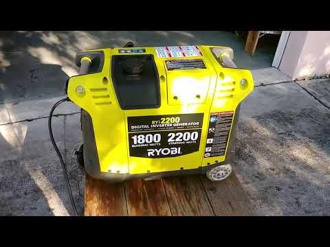 Ryobi 1800w generator won't start - смотреть онлайн на Hah Life