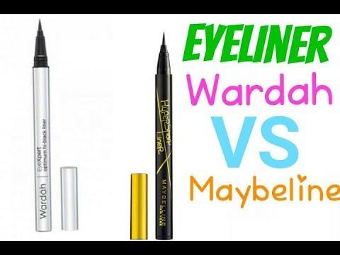 REVIEW EYELINER MAYBELINE VS WARDAH