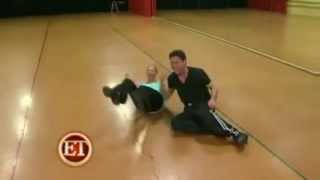 Donny Osmond FARTS in Kym Johnson's face during DWTS rehearsal!!!