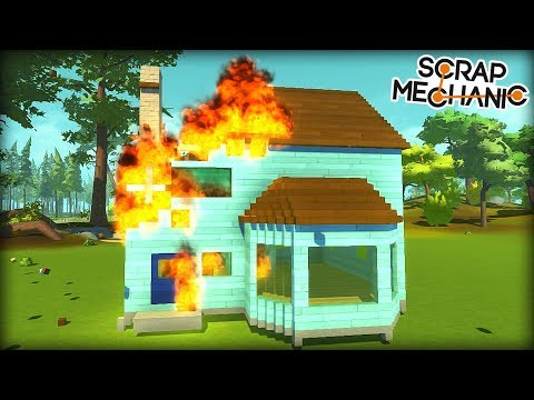 I Built a Wooden House Just to Learn How Fire Works... (Scrap Mechanic Gameplay)