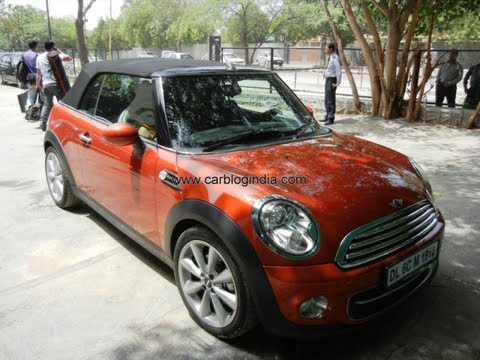 Mini Cooper Convertible Soft Roof Top Opening And Closing Operation
