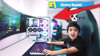 My Little Brother Plays Fortnite On PC For The First Time & He Does Not Play Like Ninja!