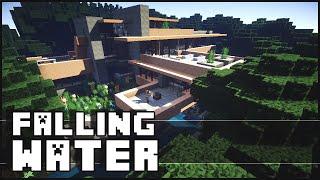 Minecraft - Falling Water House 2 (Frank Lloyd Wright)