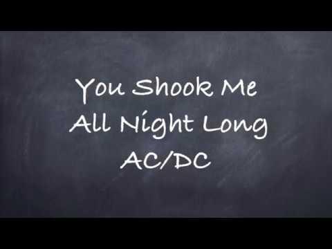 You Shook Me All Night Long-AC/DC Lyrics