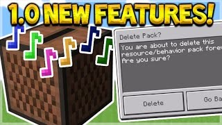 NEW 1.0 FEATURES!! Minecraft Pocket Edition - 1.0 NEW Delete Addons + MCPE Music!