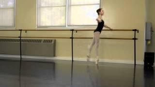 Ballet: Grand Battement on pointe - Robbie age 13