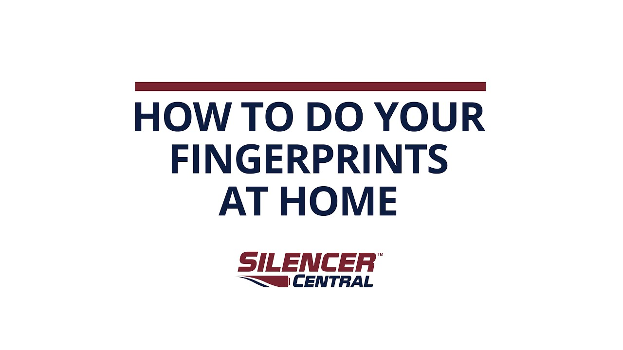 How To: Fingerprints at Home