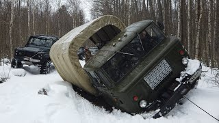 Газ66 по льду, мы думали обойдётся)