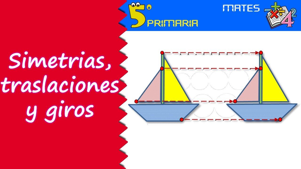 Simetrías, traslaciones y giros. Mate, 5º Primaria. Tema 8