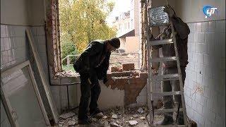 В корпусе диспансера «Катарсис» на улице Яковлева идут большие ремонтные работы