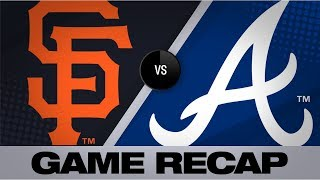 Braves clinch 2nd straight NL East title | Giants-Braves Game Highlights 9/20/19