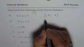 Practice to Write Inequality with Interval Notation