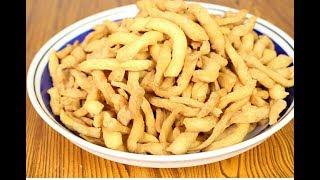 Soft and crunchy Ghanaian/Nigerian flour chips(chin chin)