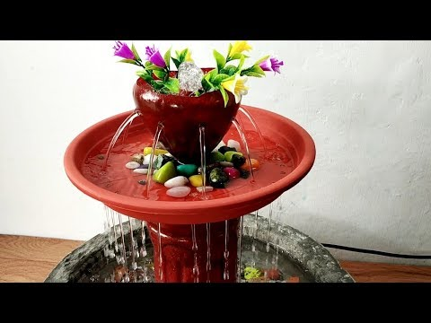 How to make beautiful waterfall fountain water fountain very easy