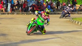 Yamaha Jupiter MX Menang Telak Lawan Satria Fu di Road Race 150CC (Road Race Indonesia)