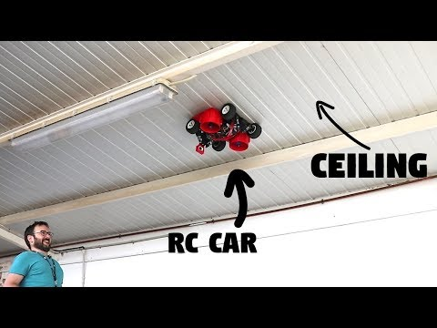 Rc Car Driving on the Ceiling