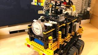 Kompressoranhänger mit Flutlichtmast – Pneumatik – Lego Technic MOC