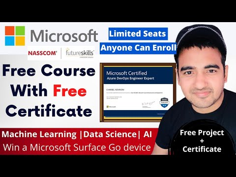 Microsoft Free Course With Certificate| Machine Learning | Data ...