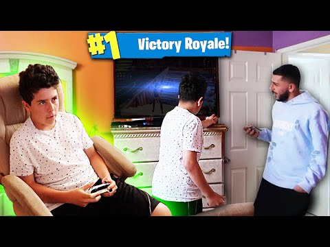 TURNING TV OFF ON KID ADDICTED TO FORTNITE! *FREAK OUT*