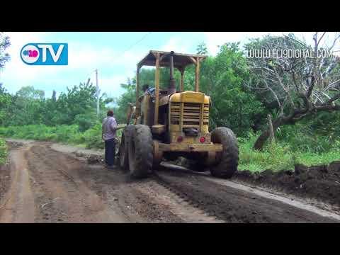 Alcaldia de Masaya realiza trabajos de reparacion y nivelacion de caminos en Comarcas del Comejen 1 y 3