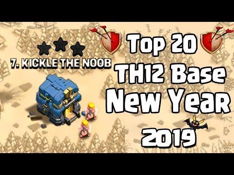 TOP 20 TH12 WAR BASE 2019 Anti 3 STAR   Town Hall 12 (TH12) WAR BASE