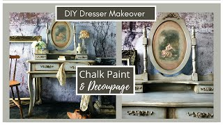How To Decoupage With Chalk Paint Wash And Glaze